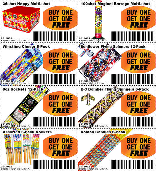 Coupons fireworks